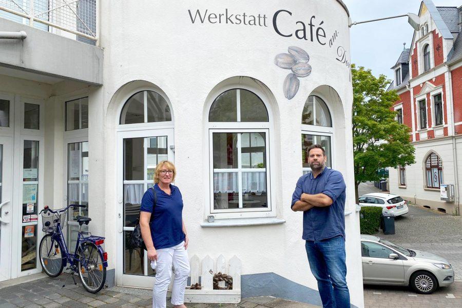 Ortsbesichtigung Werkstatt Cafe am Dorfplatz